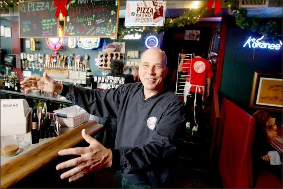 Danny Piecora runs Piecora Pizza, which turns 25 this year. Photo: Scott Eklund/Seattle Post-Intelligencer