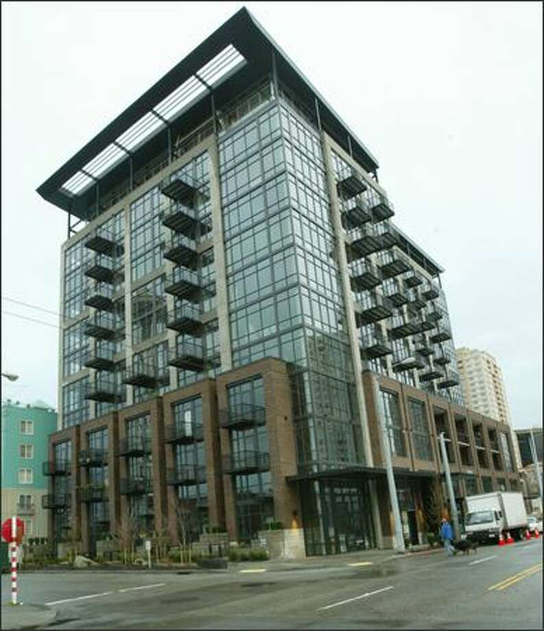 Belltown's Mosler Lofts is the most provocative residential high-rise in Seattle since WWII. Photo: GRANT M. HALLER/P-I
