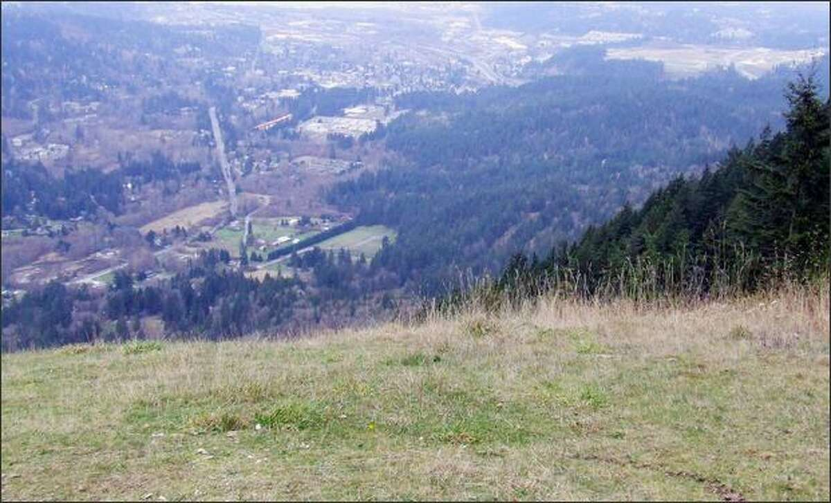 The view from 1,850-foot-high Poo Poo Point into the Issaquah Valley.