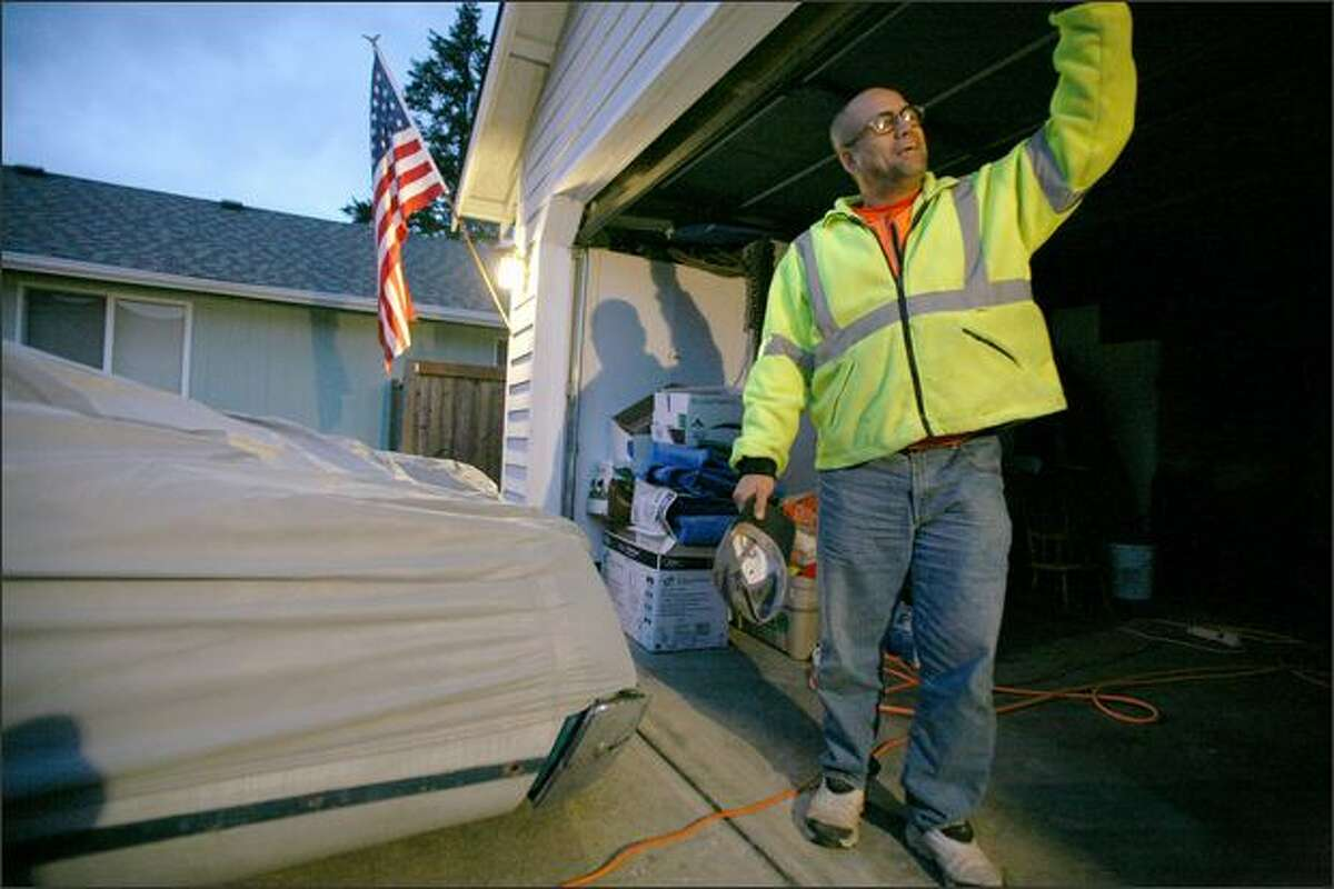 """Since returning from Iraq, Garry Naipo leaves his house less and less. His routine is to go to work, then come home to the bunker of his garage, which he cleans on a daily basis. """"My safe place,"""" Naipo calls his garage. """"I just want to feel normal,"""" he said recently. """"I want to stop looking over my shoulder."""""""