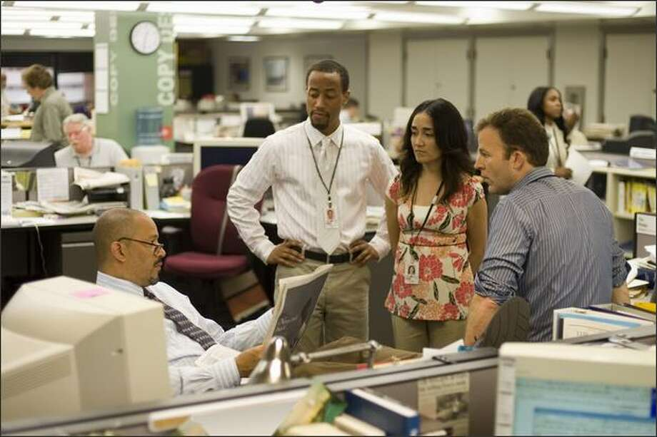 "The newsroom scenes are the weakest of the last season of ""The Wire."" Series creator David Simon worked for The Baltimore Sun. Photo: / HBO"