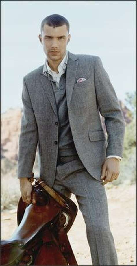 An elegant suit from Gant features slim lapels, an example of its swing to a dressier look this year. Photo: Gant