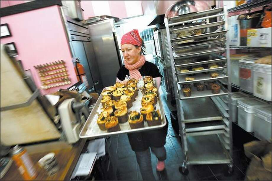 Stephanie Crocker sold her pastries wholesale at first, but soon decided she wanted her own bakery. Photo: ANDY ROGERS/P-I