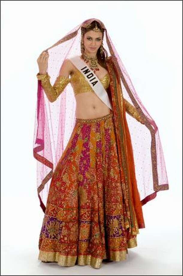 Finalist No. 4 of 10: Simran Kaur Mundi, Miss India 2008. Photo: Miss Universe L.P., LLLP