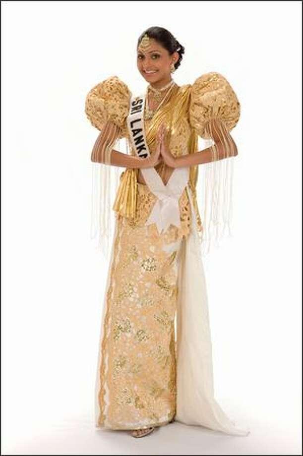 Aruni Rajapaksha, Miss Sri Lanka 2008. Photo: Miss Universe L.P., LLLP