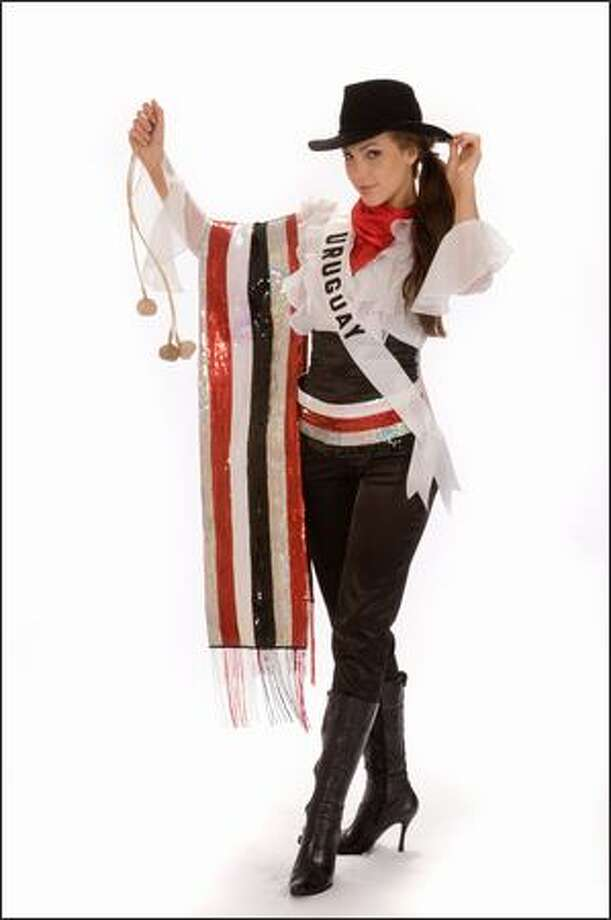 Paula Diaz Galione, Miss Uruguay 2008. Photo: Miss Universe L.P., LLLP