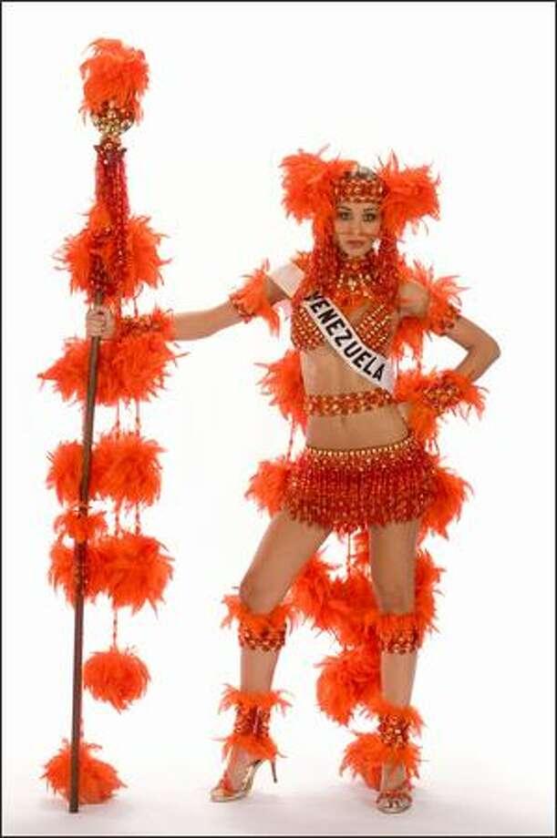 Finalist No. 9 of 10: Dayana Mendoza, Miss Venezuela 2008. Photo: Miss Universe L.P., LLLP