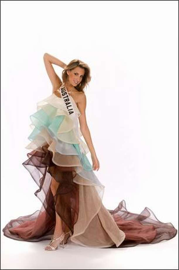 Laura Dundovic, Miss Australia 2008. Photo: Miss Universe L.P., LLLP