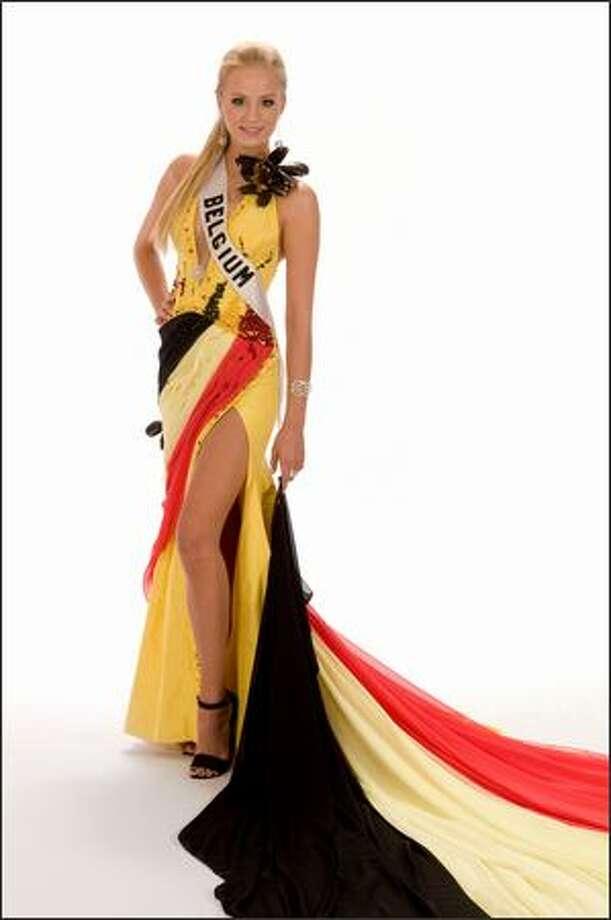 Alizee Poulicek, Miss Belgium 2008. Photo: Miss Universe L.P., LLLP