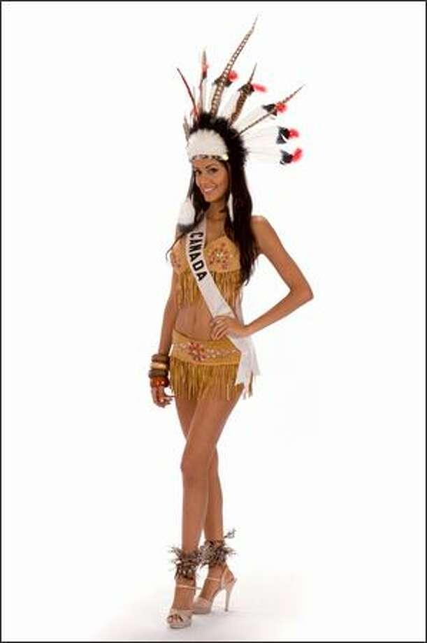 Samantha Tajik, Miss Canada 2008. Photo: Miss Universe L.P., LLLP
