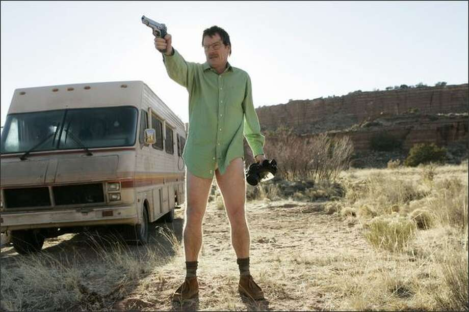 Bryan Cranston shows off his acting chops in his role as a ground-down, high school chemistry teacher who banks his family's future on cooking methamphetamine in an RV. Photo: /