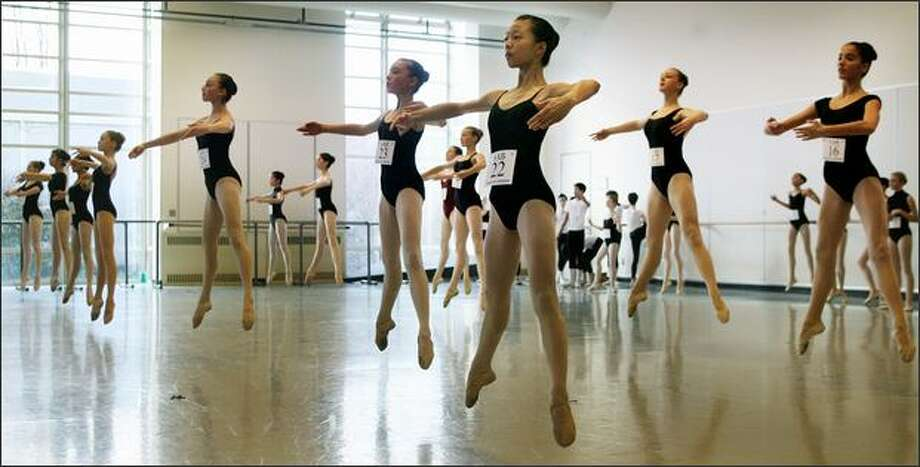 On Sunday, 106 ballet dancers audition at Pacific Northwest Ballet for a spot at the School of American Ballet's summer training program for ages 12 through 18. Photo: Dan DeLong/Seattle Post-Intelligencer