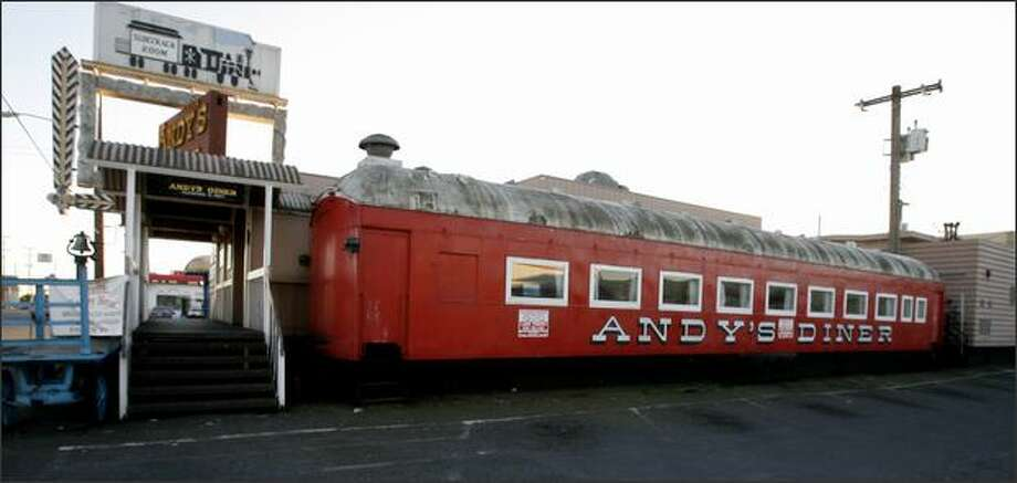 Andy's Diner, housed in a collection of historic railroad cars, has been a familiar sight for many years on Fourth Avenue South. Photo: / Seattle Post-Intelligencer