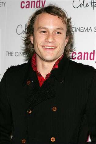 Heath Ledger arrives at a film screening in New York in this November 2006 file photo. Photo: / Getty Images
