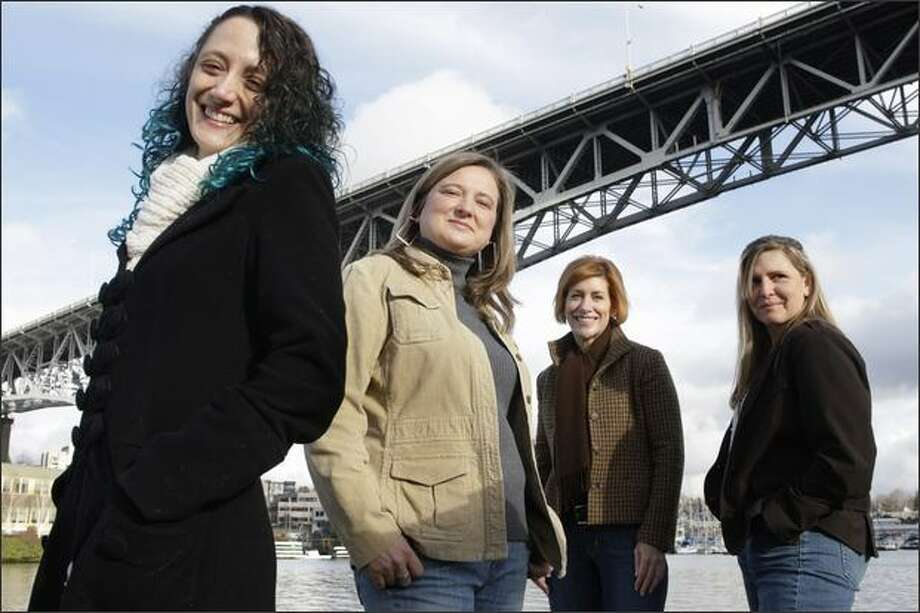 Seattle women, from left, Krisha CatZen, Jackie Koney, Elisabeth Squires and Deidre Silva took different paths to fulfillment. Photo: Meryl Schenker/Seattle Post-Intelligencer