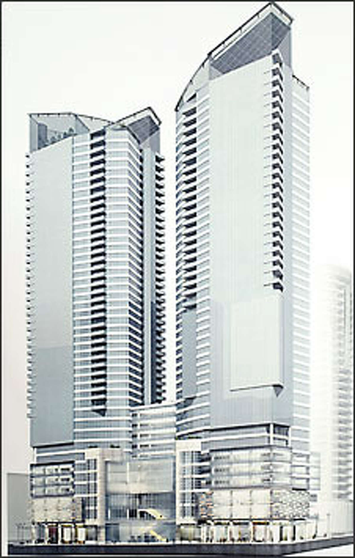 A rendering shows the proposed project at 1913 Fifth Ave., as shown from the corner Fifth Avenue and Virginia Street.