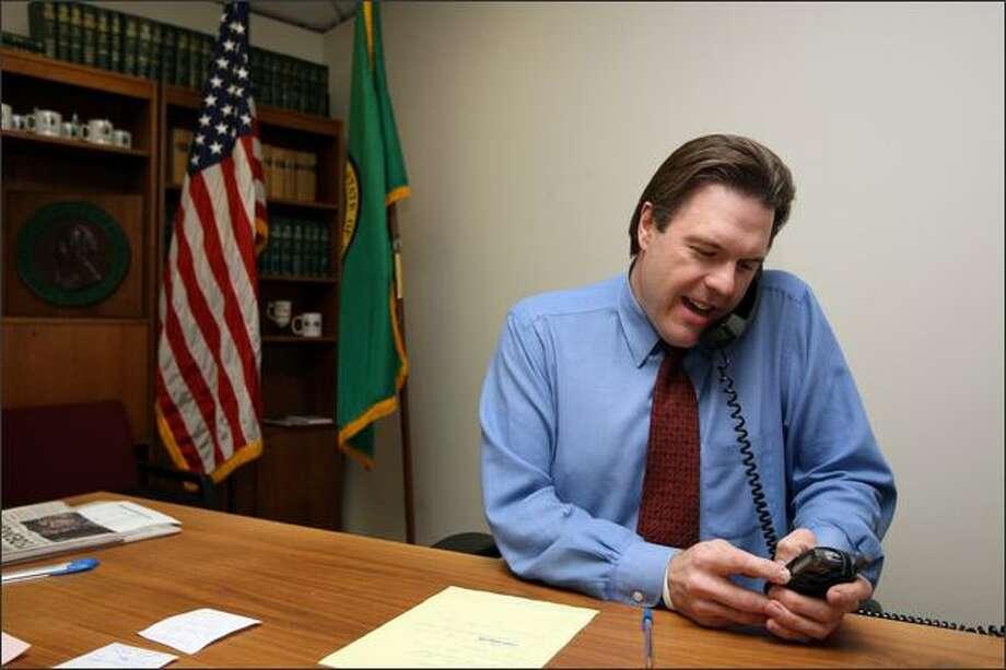 Luke Esser undertook a challenge last year taking over as state GOP chairman. Photo: / Associated Press