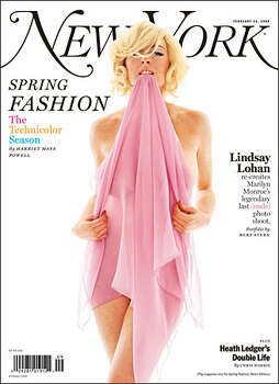 Lindsay Lohan on the cover of New York magazine. Photo: /