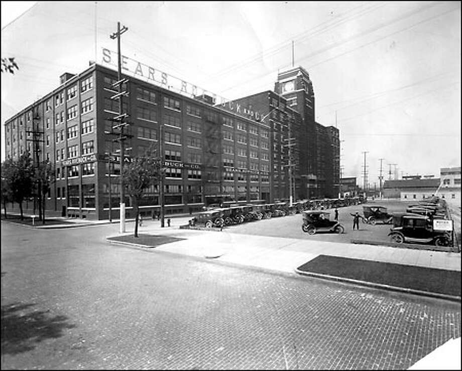 Sears opens West Coast flagship center, 1925: Sears, Roebuck and Co. opened its flagship warehouse on First Avenue South and South Lander Street in 1925. The building included one of the catalog giant's new retail stores. The distribution facility closed in 1987. Photo: Seattle Post-Intelligencer