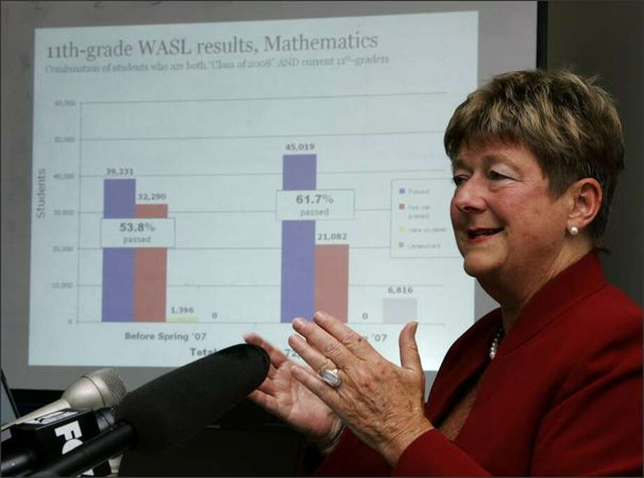 Schools chief Terry Bergeson may face no-confidence votes over the WASL. Photo: / Associated Press