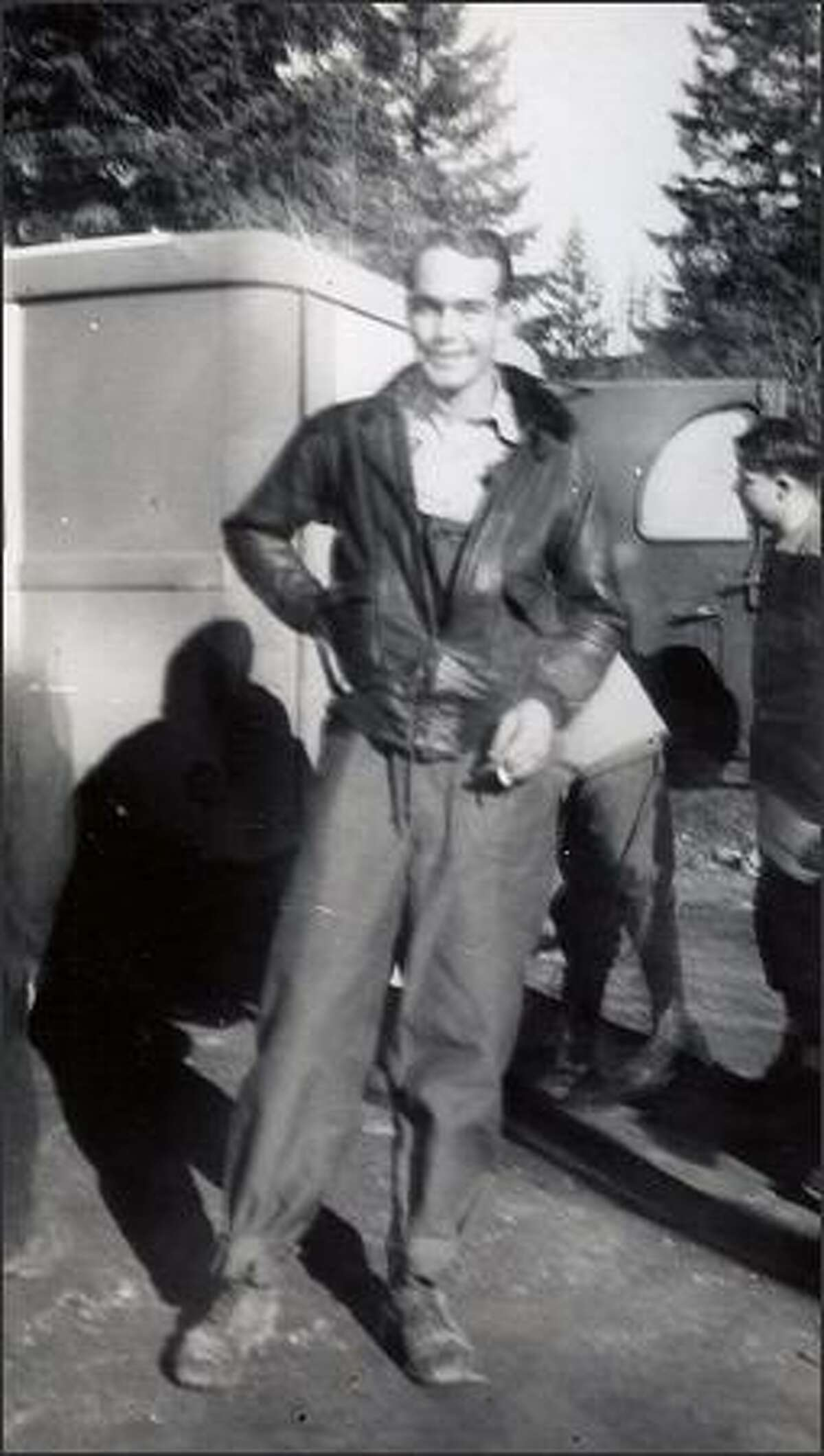 Marine Lt. Floyd Walling in a picture taken in December 1945. The parachute that was dug up may be one he used in bailing out. (Howard Hanson photo)