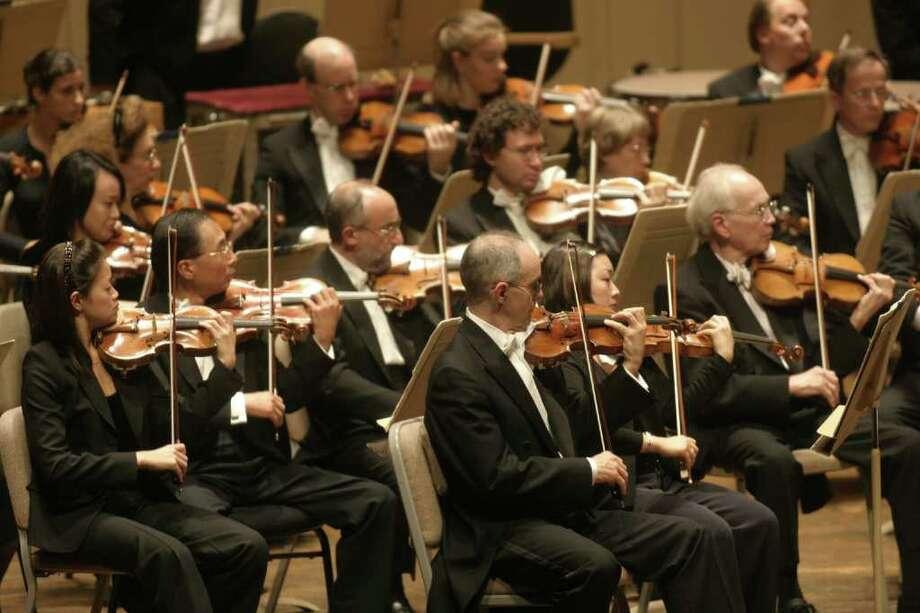 Boston Symphony Orchestra violins (Michael Lutch) Photo: Michael Lutch