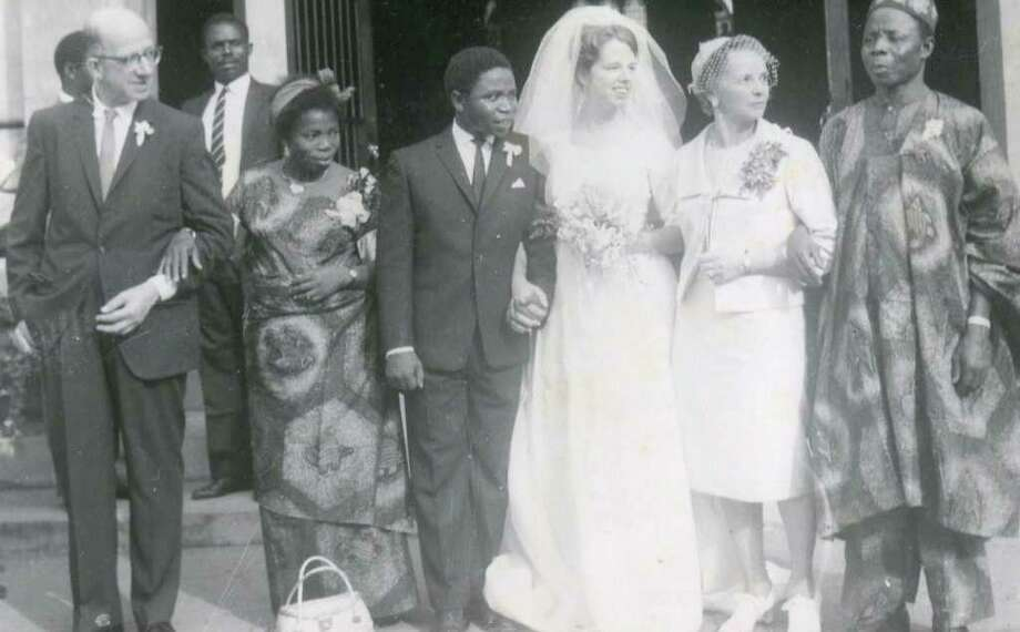 The wedding of Catherine and Clement Onyemelukwe in Nigeria in 1964. The Westport woman met her husband-to-be when she was a Peace Corps volunteer in Africa. Photo: Contributed Photo / Westport News contributed