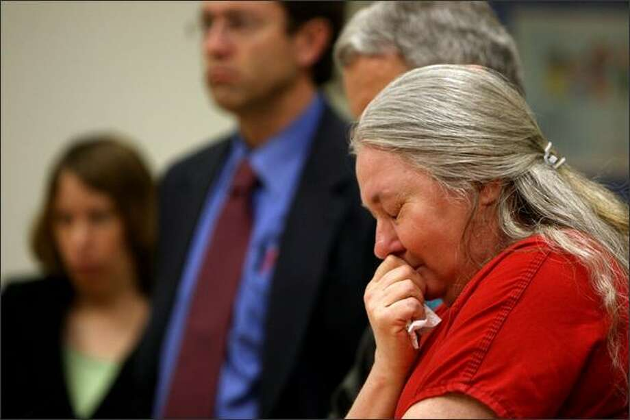 Velma Ogden-Whitehead cries while entering a plea of guilty to felony murder at King County Courthouse in Seattle on Thursday. Photo: Mike Kane/Seattle Post-Intelligencer