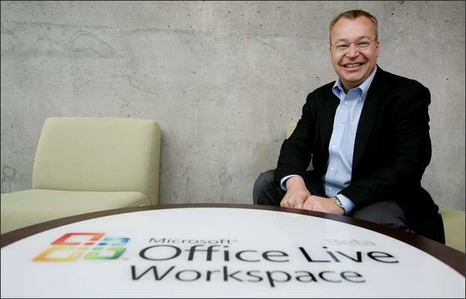 """It's a great time to be here,"" says Stephen Elop, 44, the new president of Microsoft's Business Division, who was recruited by Chief Executive Steve Ballmer. Photo: Paul Joseph Brown/Seattle Post-Intelligencer"