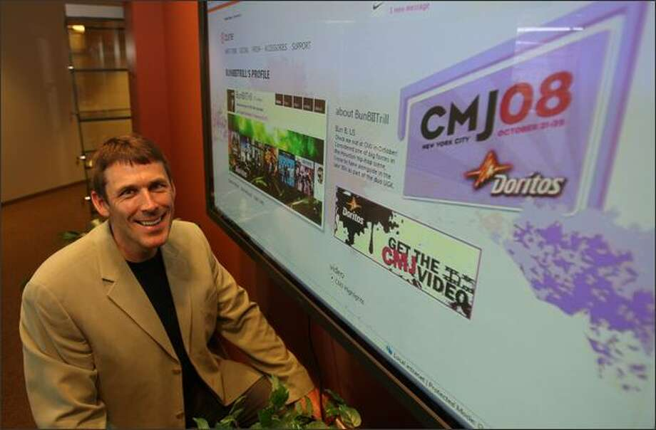 Mark Kroese heads Microsoft's Entertainment and Devices advertising group, which plans to test advertising on Zune Social. Photo: Mike Kane/Seattle Post-Intelligencer