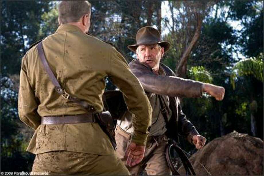 """Harrison Ford (right) is back as Indiana Jones in """"Indiana Jones and the Kingdom of the Crystal Skull."""" Photo: Paramount Pictures"""