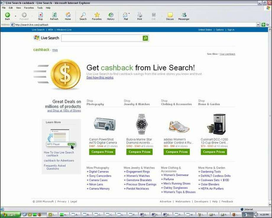 To use the Live Search cashback service, users must register for an account and buy eligible products. Photo: /