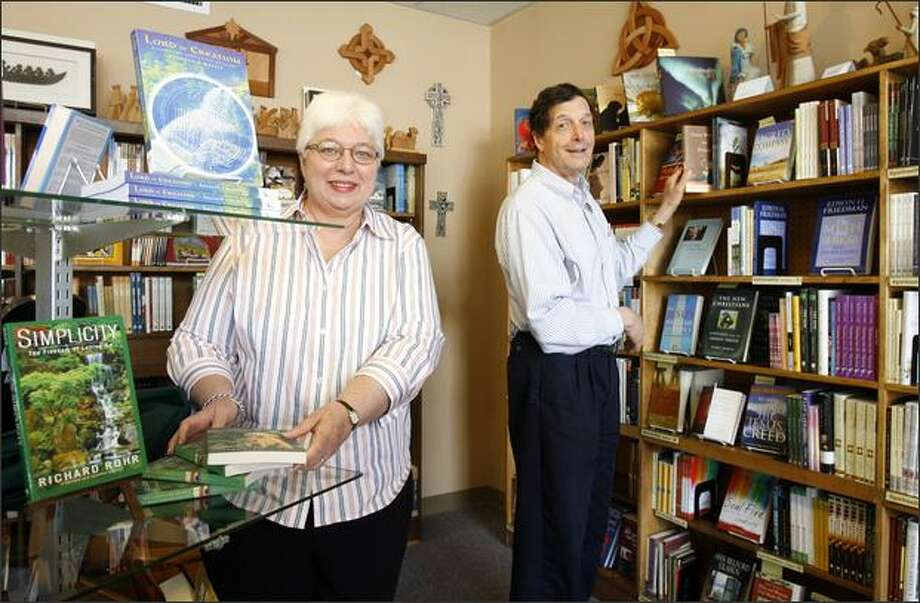 Nancy and John Marshall are the second owners in Episcopal Bookstore's 36-year history. They bought the store in 1992, and moved it to its current site in 1998. Photo: Gilbert W. Arias/Seattle Post-Intelligencer