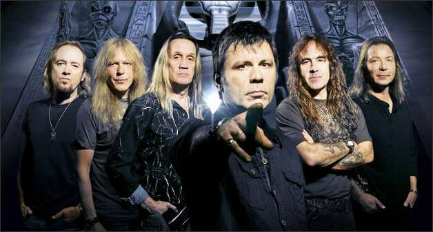 These gentlemen -- known only as Iron Maiden -- are the undead, emerged from the tomb to rock the Earth. They're coming to get you. Photo: / John McMurtrie