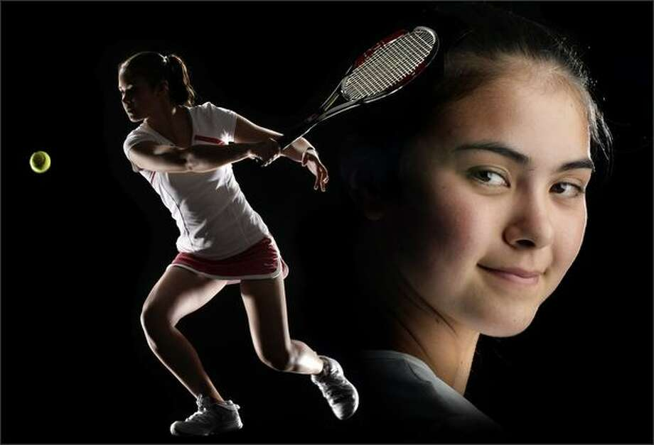 Natalie Allen, of Holy Names Academy is a Seattle Post-Intelligencer 2008 MVP in tennis. (Seattle Post-Intelligencer Photo Illustration/Andy Rogers) Photo: /