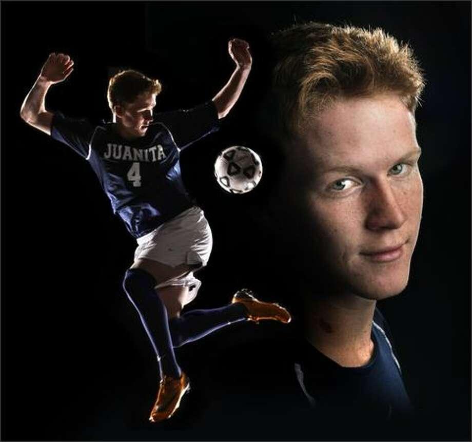 Tyler Bjork of Juanita High School is a Seattle Post-Intelligencer 2008 MVP in soccer. Photo: Andy Rogers/Seattle Post-Intelligencer
