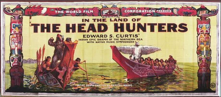 "A billboard for the original 1914 version of ""The Head Hunters."" Photo: /"