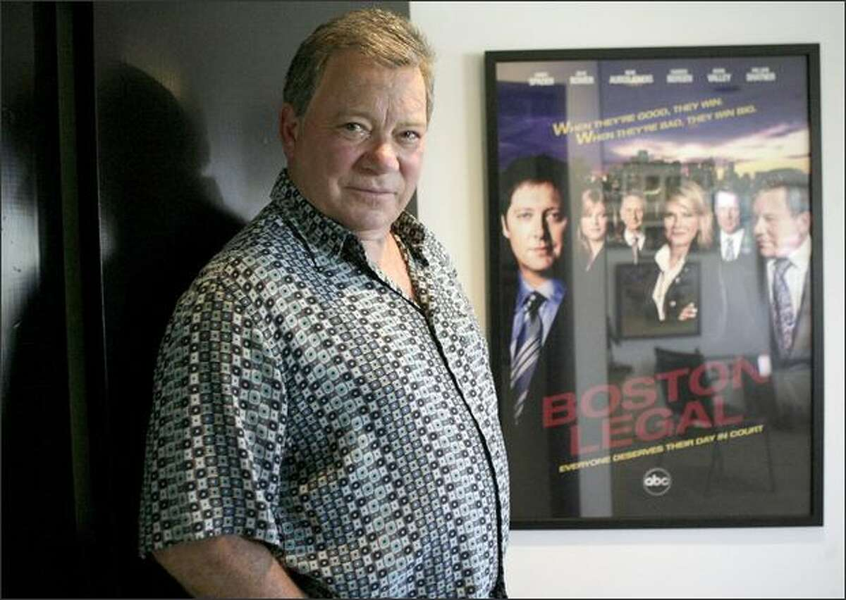 Actor William Shatner poses in his office in Los Angeles April 9.