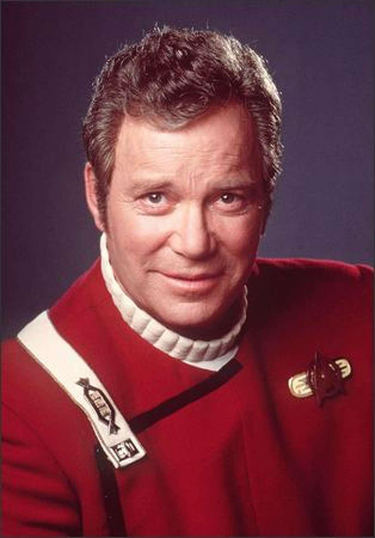 """William Shatner of """"Star Trek"""" as he appeared in cinematic versions of the pioneering TV series."""