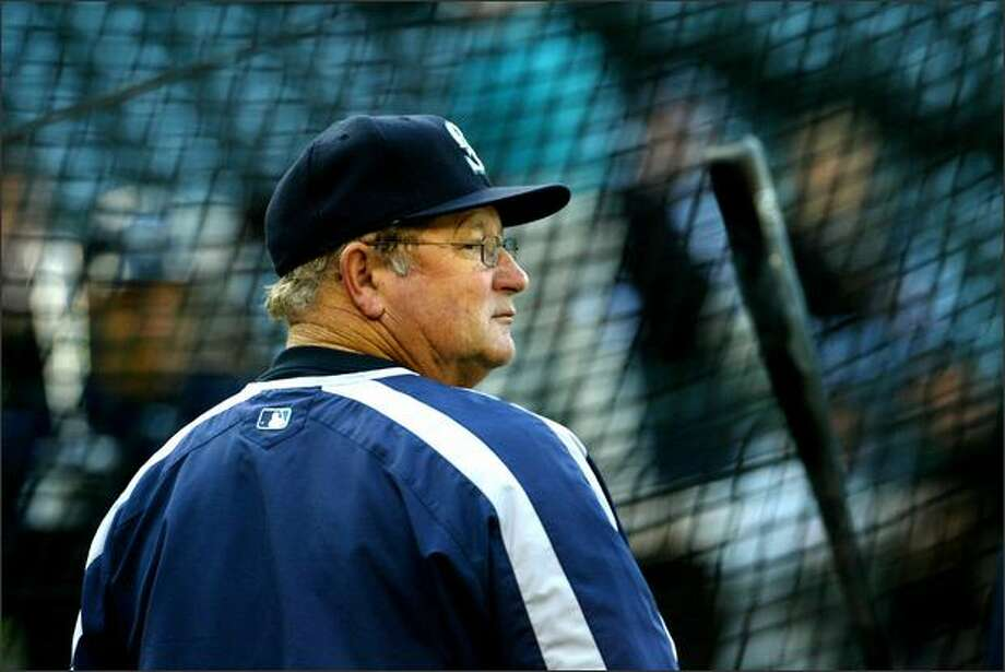 Jeff Pentland during batting practice before Mariners game in 2006. Pentland was fired by the Mariners on Monday. Photo: / P-I File
