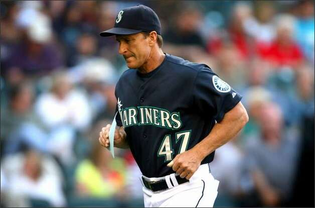 Seattle Mariners bench coach Jim Riggleman will take over as manager of the Seattle Mariners after the team fired coach John McLaren. Photographed during a game against the Florida Marlins on June 16 at Safeco Field in Seattle. Photo: Joshua Trujillo/Seattle Post-Intelligencer
