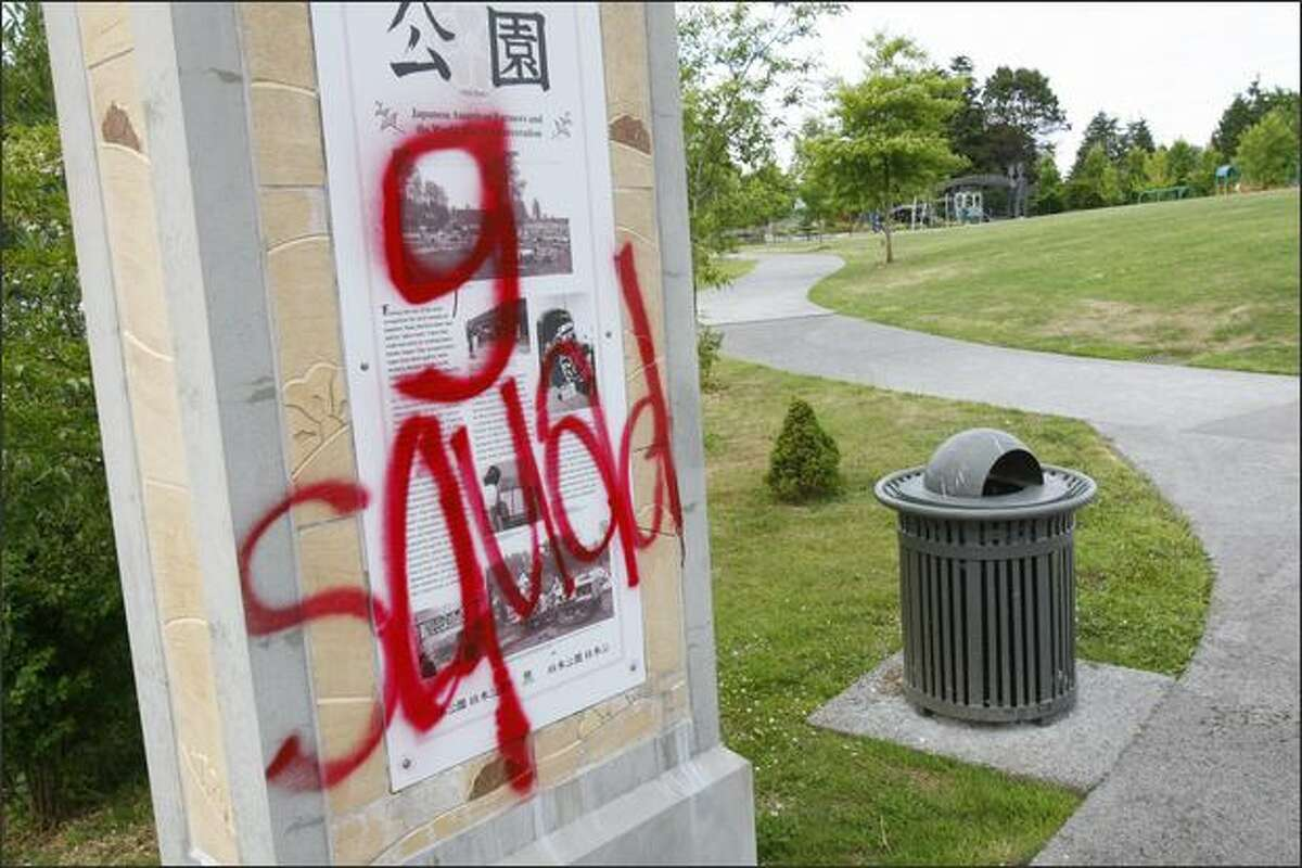 Neighborhood residents say problems such as litter and drinking seem worse since an increase of graffiti at Greenwood Park. Graffiti incidents are up 44 percent in Seattle over the past year.