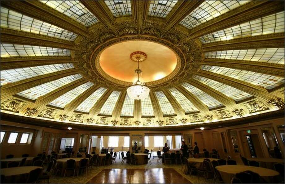 The ballroom in the Arctic Club Building downtown is just one part of the historic building that has been transformed into a hotel. Photo: Joshua Trujillo/Seattle Post-Intelligencer