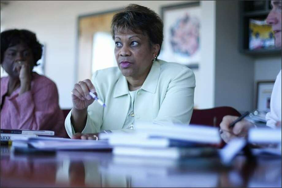 Seattle Public Schools Superintendent Maria Goodloe-Johnson, who took the job one year ago Wednesday, has earned respect for her no-nonsense style and willingness to acknowledge problems. Photo: Andy Rogers/Seattle Post-Intelligencer