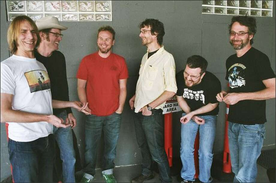 Sub Pop's anniversary festival will include a much-anticipated reunion of Green River, which disbanded in 1988. Band members include, from left to right, Mark Arm, Bruce Fairweather, Jeff Ament, Steve Turner, Alex Shumway and Stone Gossard. Photo: / Emily Rieman