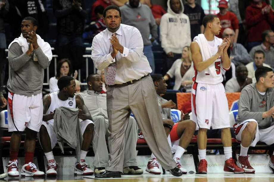 This photo made March 5, 2011 shows Fairfield University head coach Ed Cooley during a MAAC tournament quarterfinal men's basketball game in Bridgeport, Conn. Providence has hired former Cooley to replace the fired Keno Davis.  (AP Photo/Connecticut Post, Brian A Pounds) ** MANDATORY CREDIT ** Photo: AP