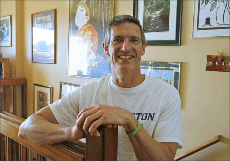 Former UW star Rick Colella, 56, swam in two Olympics, winning a bronze medal in the 200-meter breaststroke in 1976 at Montreal. Photo: Gilbert W. Arias/Seattle Post-Intelligencer