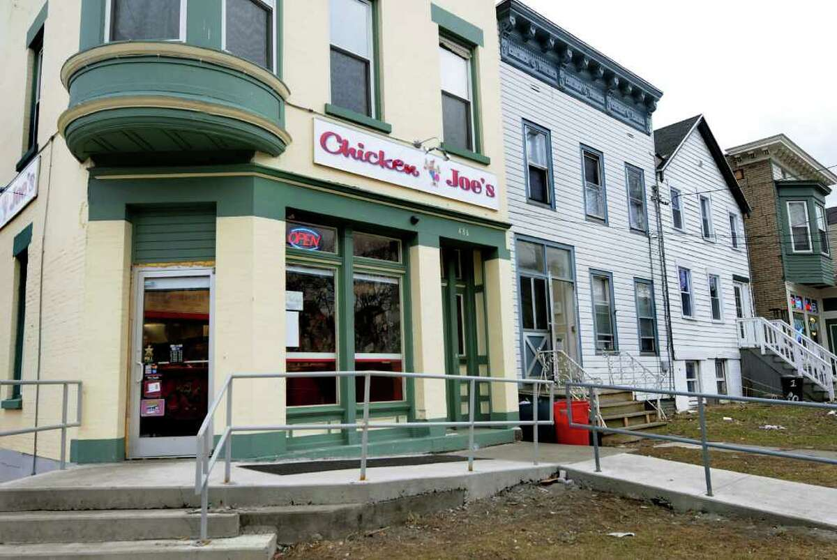 A new business, Chicken Joe's, recently opened on the corner of Yates and Ontario streets in Albany, shown here on Tuesday, March 22, 2011. (Cindy Schultz / Times Union)