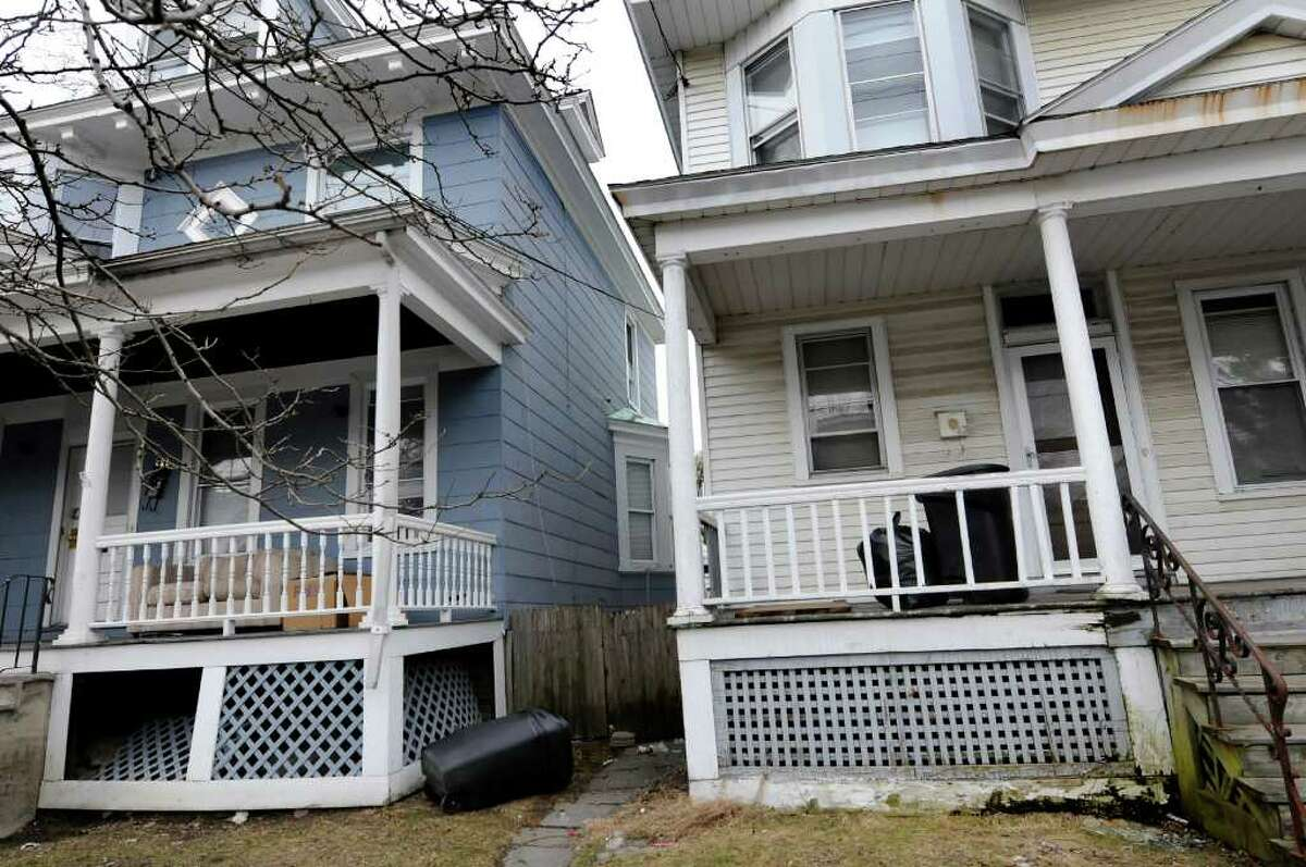 Houses on Partridge Street on Tuesday, March 22, 2011, in Albany, N.Y. (Cindy Schultz / Times Union)