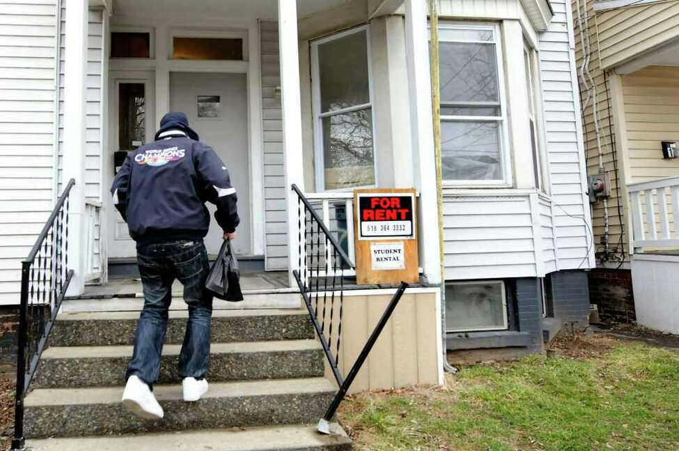 A student rental on Hamilton Street in Albany. (Cindy Schultz / Times Union)